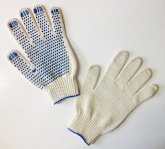 """Перчатки белые,""""точка""""  7 кл.  """"АРКТИКА"""""""