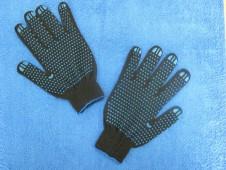 """Перчатки черные,  """"точка""""  10 кл. """"ЛАЙТ"""""""