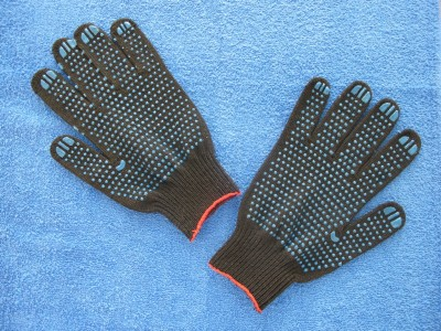 """Перчатки черные, """"точка"""" 10 кл.  """"МАСТЕР"""""""
