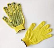 """Перчатки желтые, """"точка"""" 10кл. """"МАСТЕР"""""""