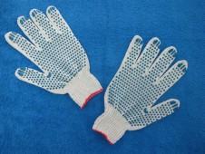 """Перчатки белые,""""точка"""" 7 кл. """"ВЕСНА"""""""