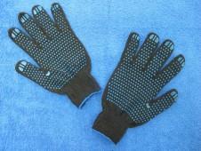 """Перчатки черные,""""точка"""" 7 кл. """"ВЕСНА"""""""