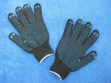 """Перчатки черные,""""точка"""" 7 кл. """"ЗИМА"""""""